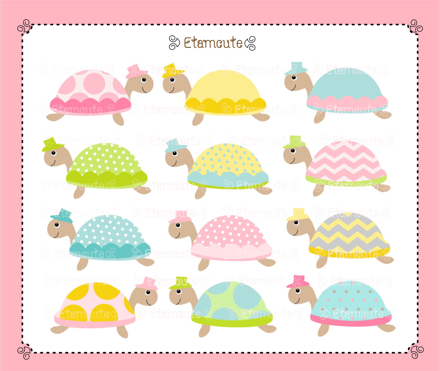 Turtle clipart baby shower Clipart clip Baby Girl shower