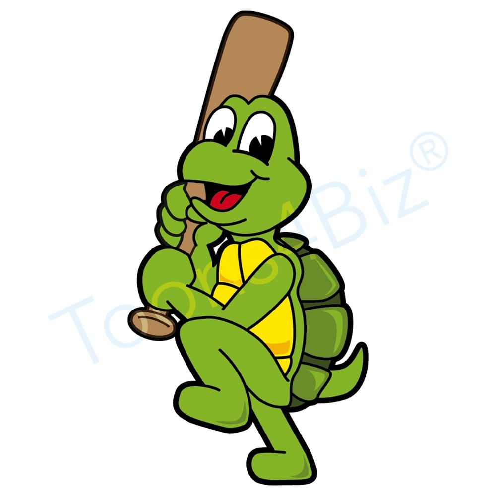 Turtle clipart baseball #3