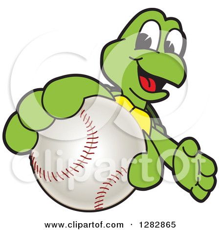 Turtle clipart baseball #9