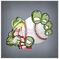 Turtle clipart baseball #1