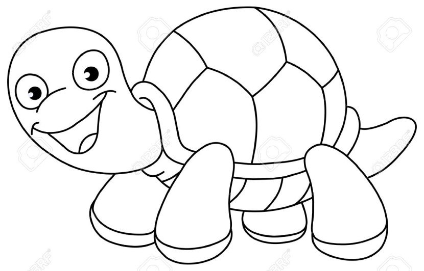Tortoise clipart black and white #13