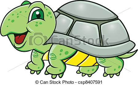 Turtle clipart cool cartoon Of Vector Turtle green cartoon