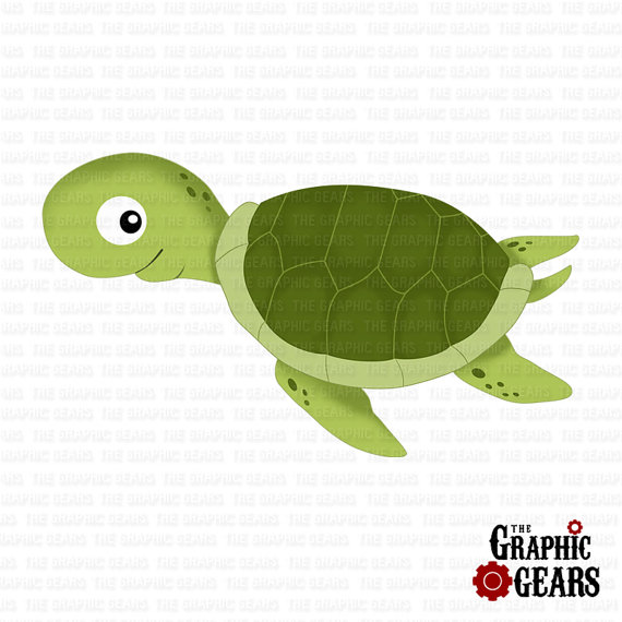 Sea Turtle clipart turtle swimming #11
