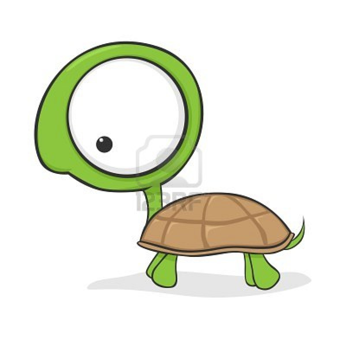 Drawn sea turtle big eye Stock eyes Photo cartoon huge