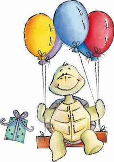 Turtle clipart happy birthday #5