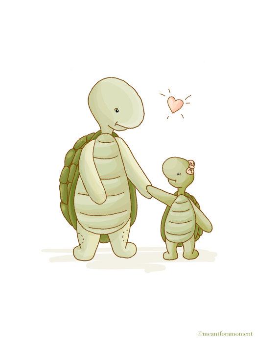 Turtle clipart mom #3