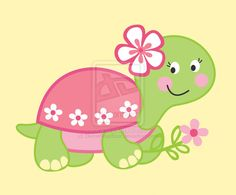 Turtle clipart one Clipart Girl  Turtle Little