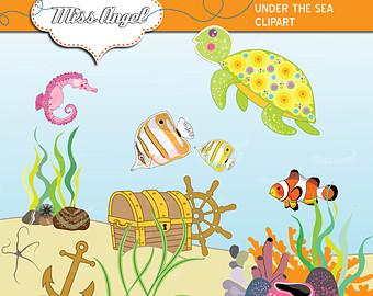 Turtle clipart sea plant #5