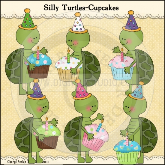 Turtle clipart silly #3