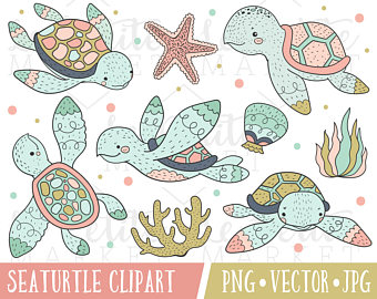 Sea Turtle clipart pink #6