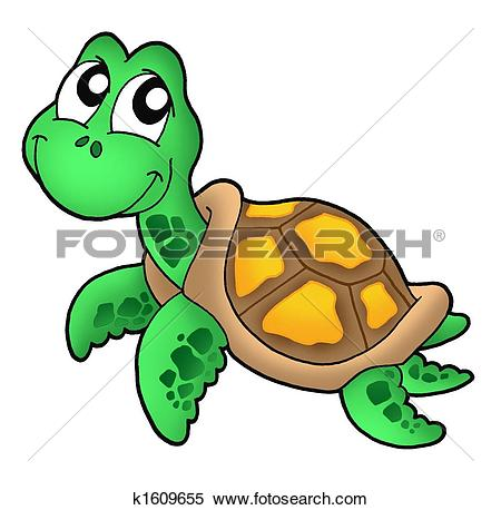Sea Turtle clipart turtle swimming #3