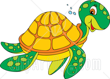 Sea Turtle clipart turtle swimming #10