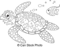 Sea Turtle clipart turtle swimming #12
