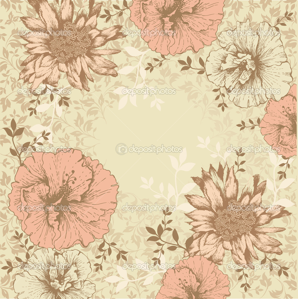 Vintage Flower clipart background Clipart Print Clipart Turtle Download