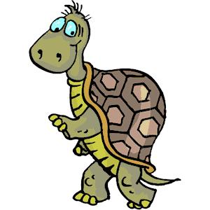 Turtle clipart walking #1