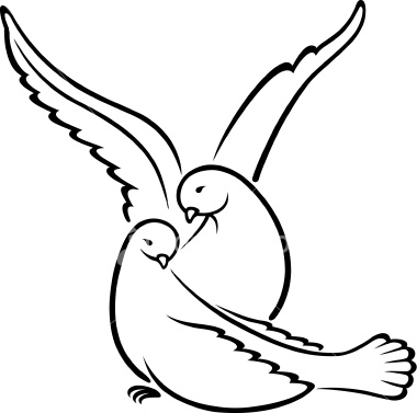 Mourning Dove clipart wedding symbol Doves Free Clipart Two on