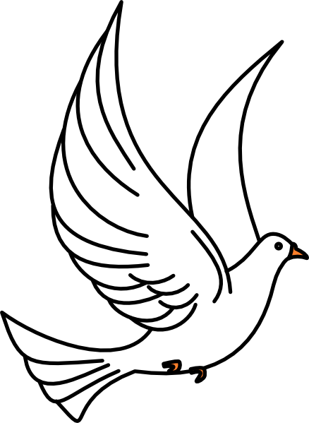 Peace Dove clipart pigeon flying #1