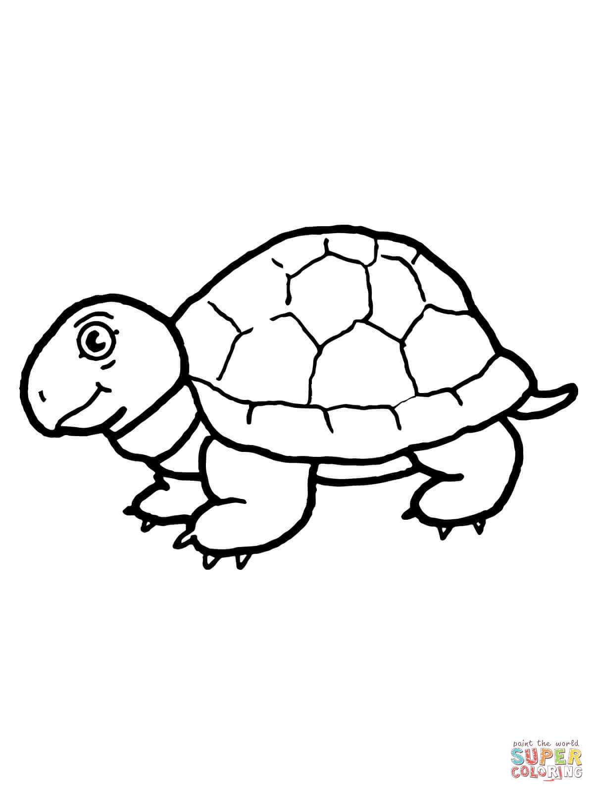 Tortoise clipart coloring page #2