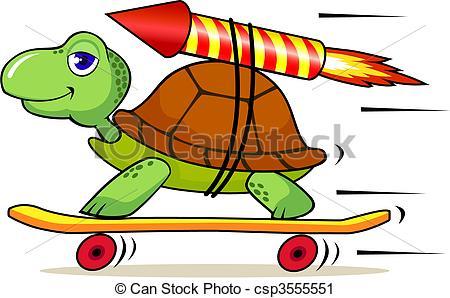 Turtoise clipart fast #4