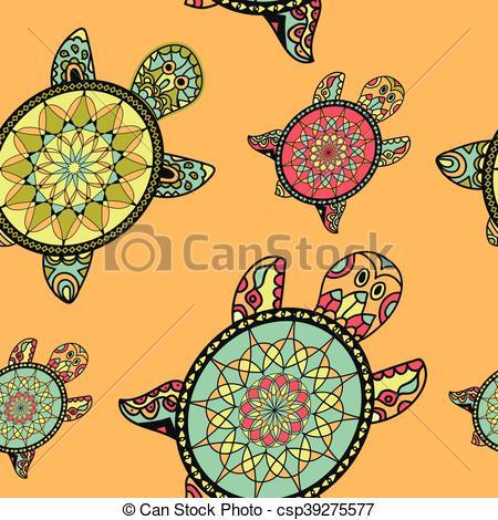 Tortoise clipart pattern #4