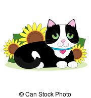 Tuxedo Cat clipart Tuxedo in Art EPS clipart