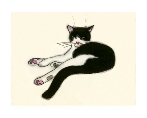 Black Cat clipart tuxedo cat Matouenpeluche 3 Simon cat print