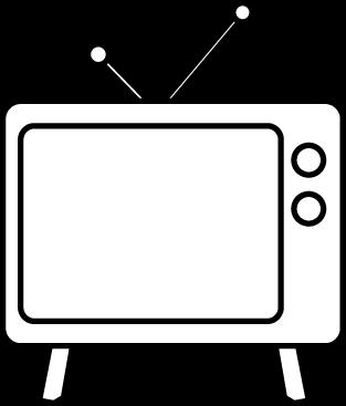 Black & White clipart television Clip and White White White