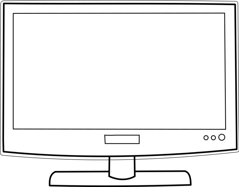 Display clipart black and white Tv Black Clipartion com Free