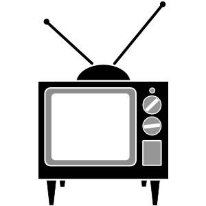 Black & White clipart television Cliparting clip television 2 white
