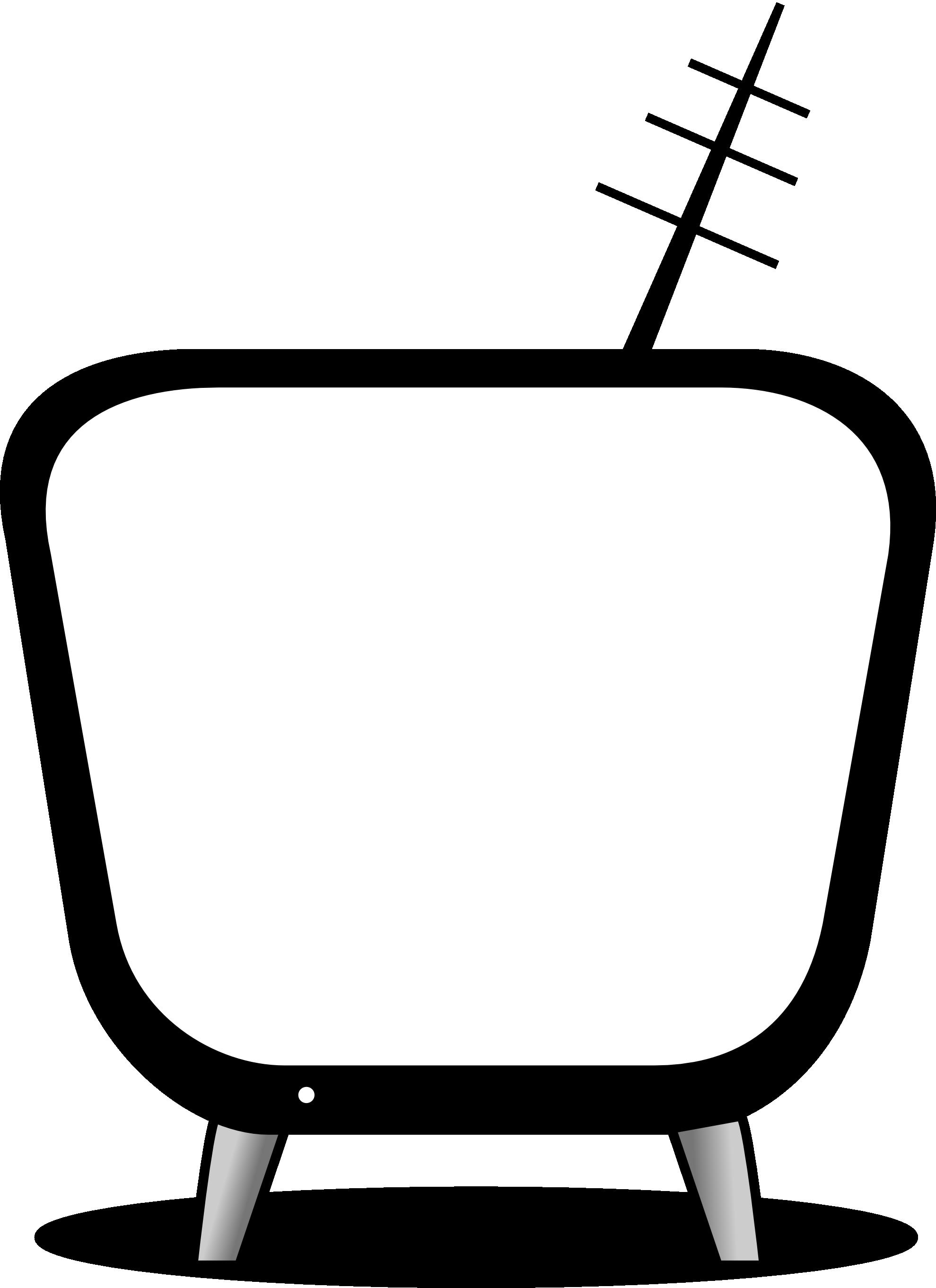 Black & White clipart television Tv clipart white clipart black
