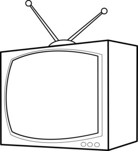 Black & White clipart television Free Tv Clipart Clipart Black