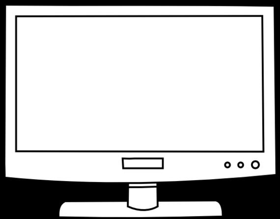 Black & White clipart television Black Art – Clip Black