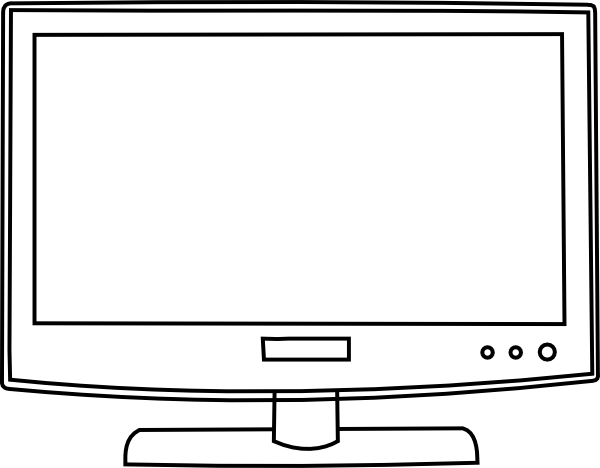 Display clipart black and white Panda Clipart  White Black