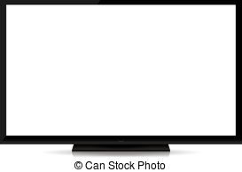 Screen clipart blank TV isolated isolate tv blank