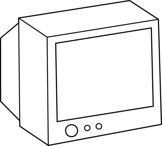 Black & White clipart television Free Television Coloring Coloring Page