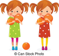 Twins clipart Two vector Images girls twins