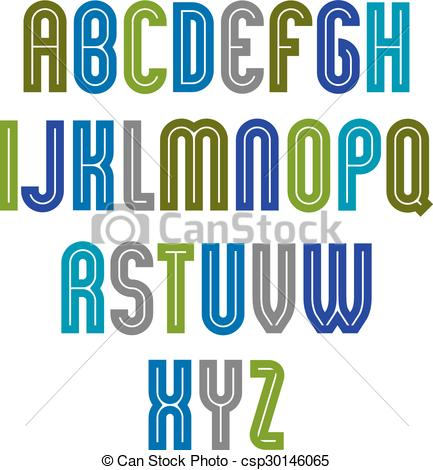 Typeface clipart With parallel Striped  font