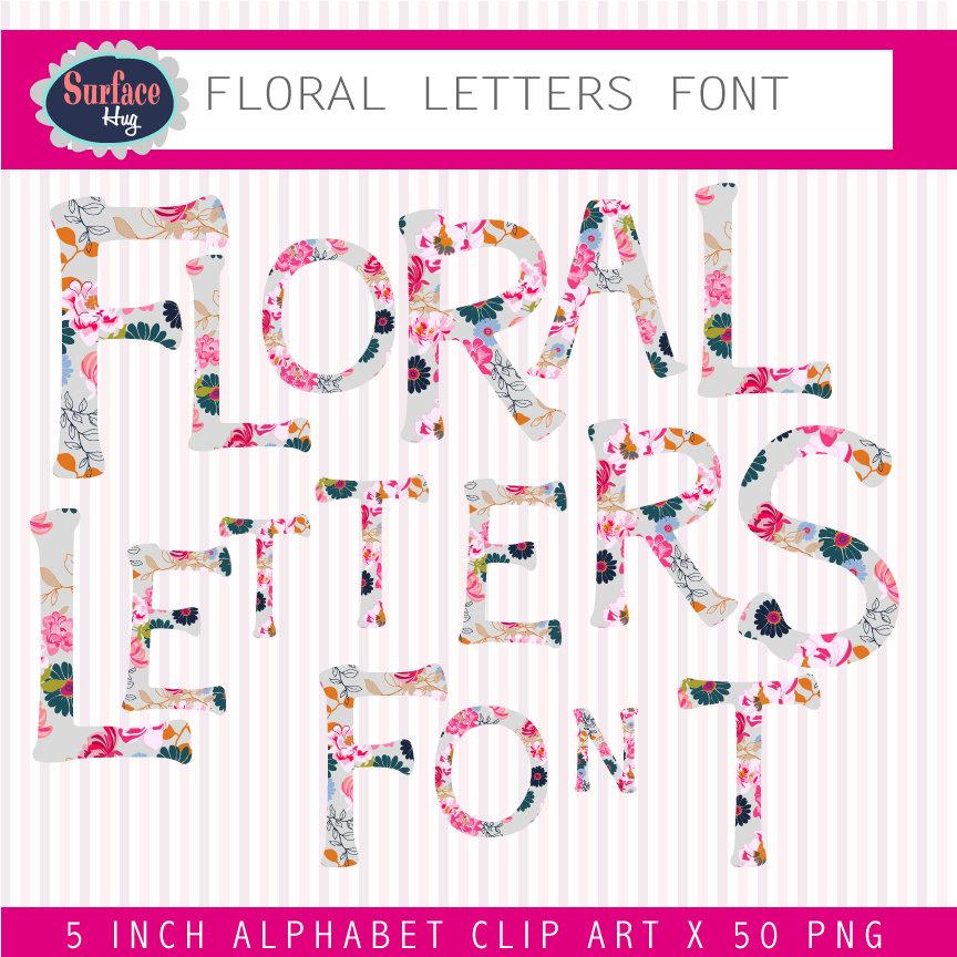 Typeface clipart Font download Font Font Floral