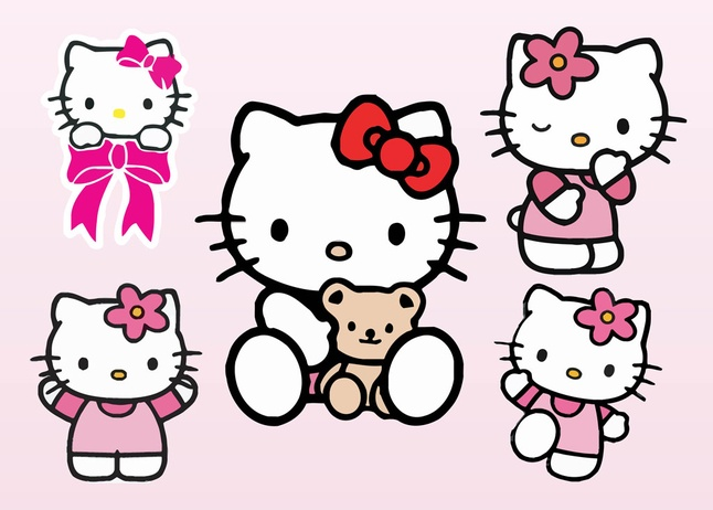 Typeface clipart Download 348 Hello  Kitty