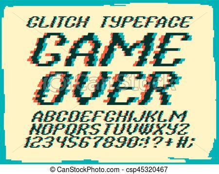 Typeface clipart Clip Art Glith typeface csp45320467