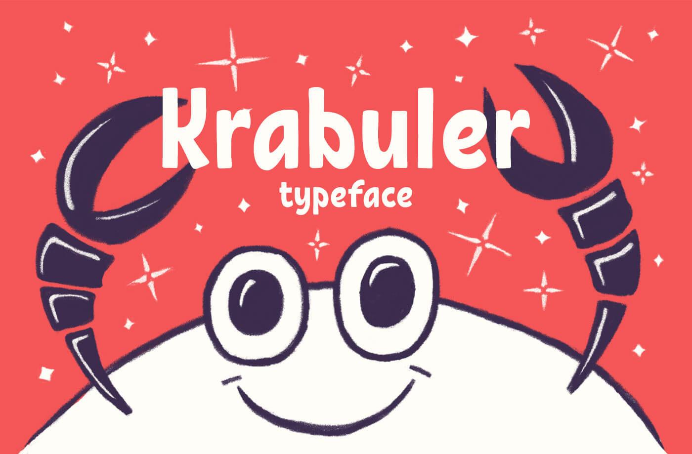 Typeface clipart cartoon Typeface Krabuler Behance Free Krabuler