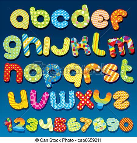 Typeface clipart cartoon Art csp6659211  Funky Funky