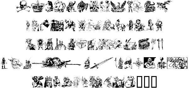 Fantasy clipart font  Clipart alphabet Font clipart