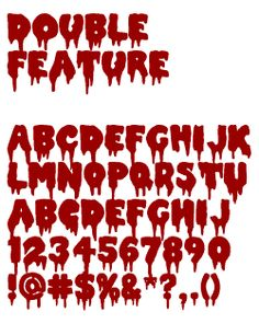 Typeface clipart gothic horror From Double and Fonts characters