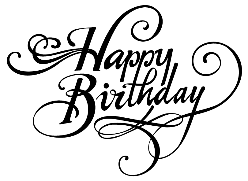 Classy clipart happy birthday Happy ClipArt Birthday BD Font