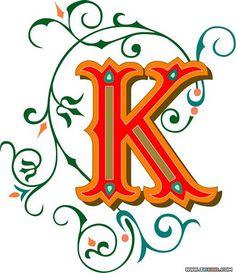 Typeface clipart ornate ClipArt K José Initials ETC