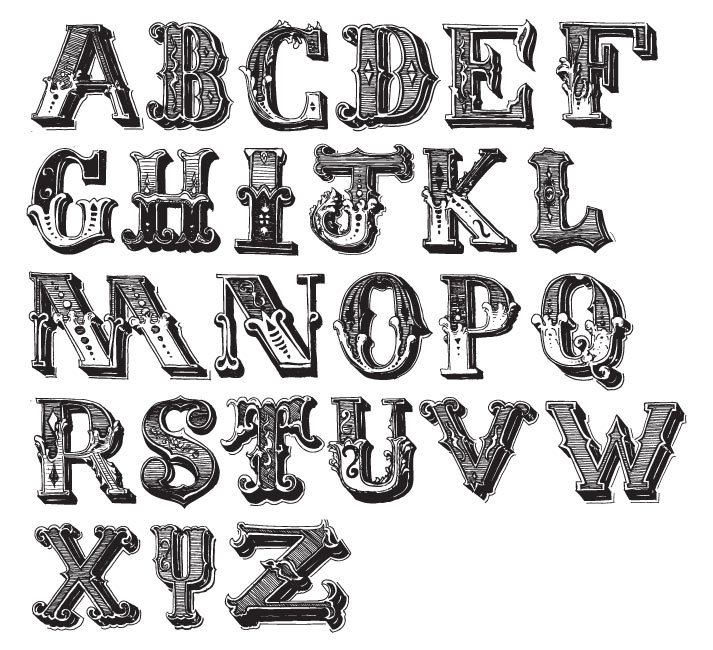 Typeface clipart ornate Fonts ornate ornate Let's Type