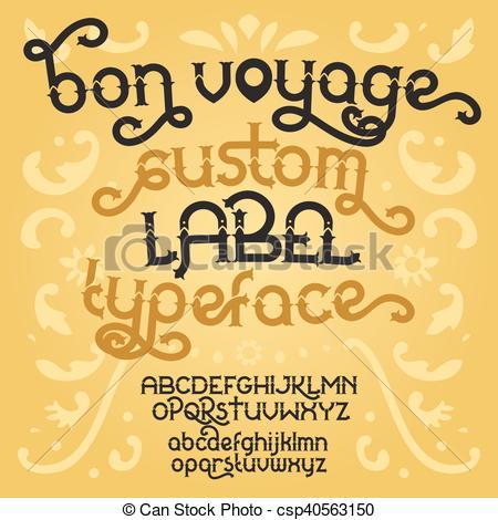Typeface clipart retro Vector Bon retro Clipart retro