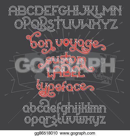 Typeface clipart retro Clip voyage Custom EPS Custom