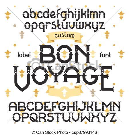 Typeface clipart retro Vector Bon  retro EPS